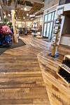 Trailblazer Mixed Hardwood Skip-Planed Floor / Retail Store Floor
