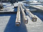 Hand-Hewn Timbers Laid out for inspection (CO Project)
