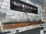 Finished Hand Hewn Mantel