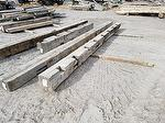 bc# 125274 - 9x10 x 19' Hand-Hewn Oak Timbers - 142.50 bf - heavy notches