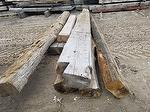 "Hand-Hewn Sleeper (For Review for 14-18"" x 24' long) (This is about 14' to the rot)"