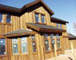 "Board On Board Siding / Trestlewood II ""Salty Fir"" Circle-Sawn Siding - Park City, Utah"