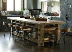 Table built with Hand-Hewn Timbers and Reclaimed Sleeper Middles for Top - Sundance, Utah
