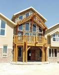 "Timber Framed home using Trestlewood II ""Salty Fir"" Timbers - Morgan, Utah"