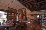 Antique Barnwood Siding, Antique Oak / Hardwood Tables, Countertop and Bench - MB Post Restaurant - Manhattan Beach, California