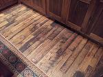 "4.5"" Wide 2-4' Antique Oak Skip-Planed T&G Flooring / Antique Barnwood Doors - Montana"