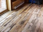 Trailblazer Mixed Hardwood Flooring (and some neighborhood bighorns) - finish not yet applied - Colorado