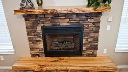 Antique Hardwood Finished Mantel