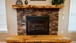 Antique Hardwood Finished Mantels