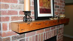 Reclaimed Douglas Fir Finished Mantels