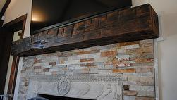 Hand-Hewn Finished Mantels