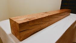 Antique Hardwood Resawn Finished Mantel