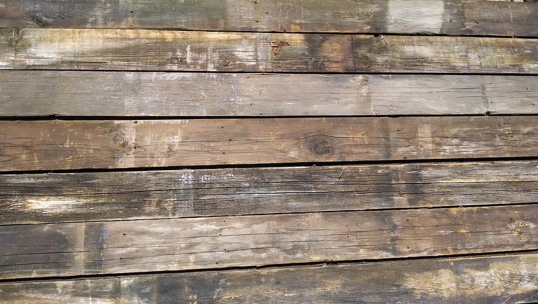 Weathered decking with original t g for Timber decking calculator
