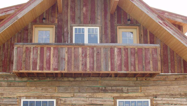 Antique Barnwood Red Painted Siding