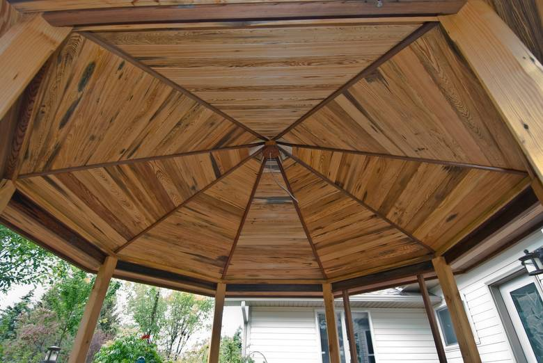 Gazebo / Cypress ceiling/redwood trim