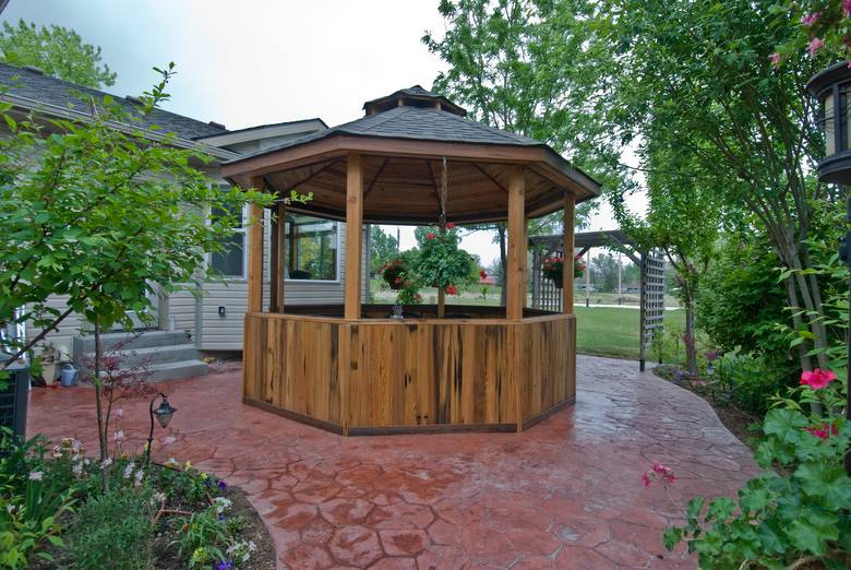 Gazebo / PW Cypress Siding/DF Timbers