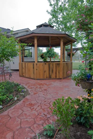 Gazebo / Cypress paneling, Douglas Fir Posts, Redwood Trim
