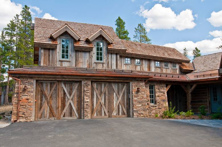 Barnwood Exterior Siding and Garage Doors (Gray/Brown)