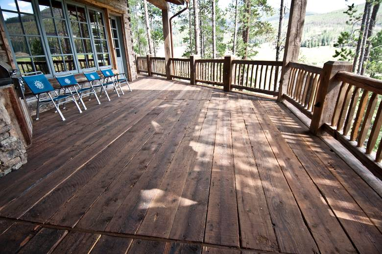 3x10 weathered decking and barnwood siding
