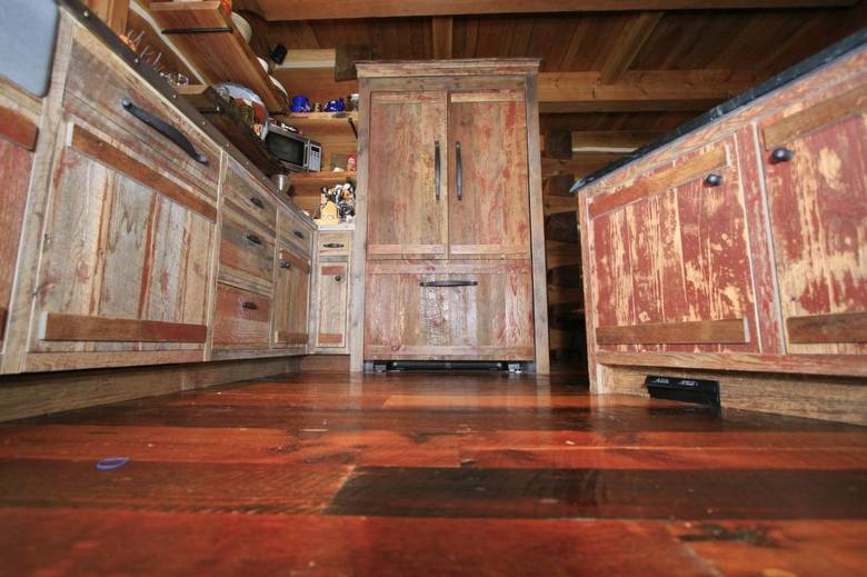 red painted barn wood cabinets rustic dream homes