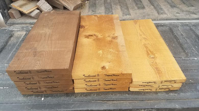 ThermalBrown Lumber Samples