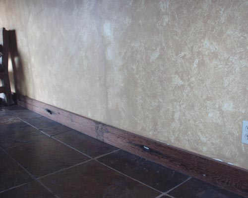 Trestle Redwood / Rustic Redwood Baseboard