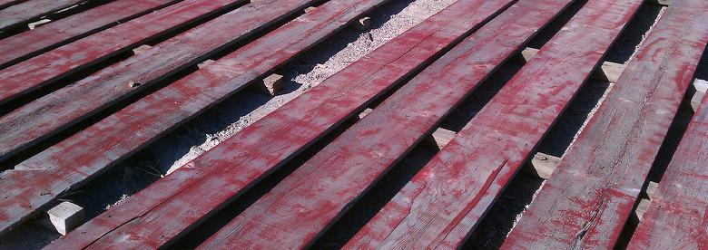 Red Painted NatureAged Weathered Barnwood