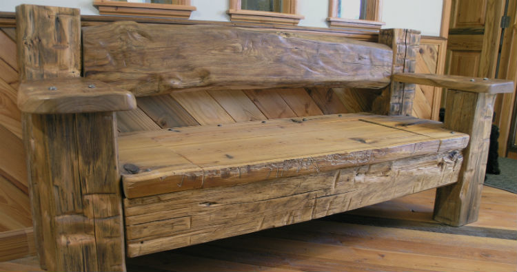 Reclaimed wood furniture post 7 Old wooden furniture