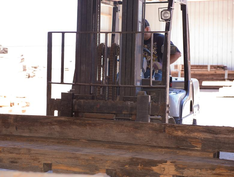 Timber Being Moved to Demetal