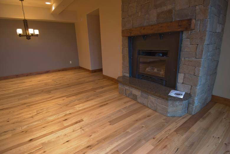 Trailblazer T&G Flooring / Mixed Hardwood--note the variety of colors and character