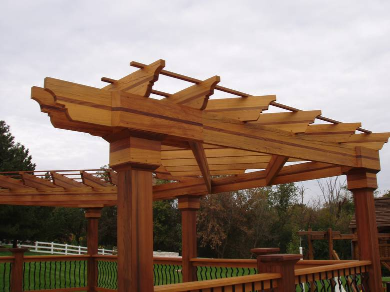 Cypress Structure / The joists of this structure are old-growth cypress with redwood laminated in the middle