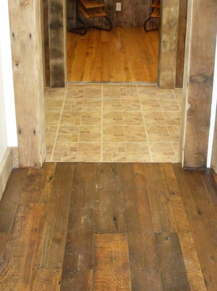 Photo 7362 As Is Oak Shiplap Face Nailed This Floor