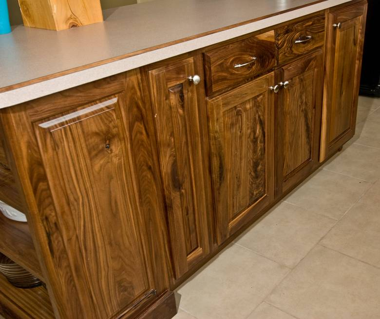 photo 9286 walnut kitchen cabinets