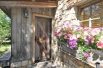 Antique Gray Barnwood and Hand-Hewn Timbers - Garage in Jackson, Wyoming