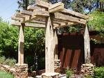 Hand Hewn Timber Gazebo / Gate Entrance / Gate Entrance Made With Hand Hewn Timbers - Denver, Colorado
