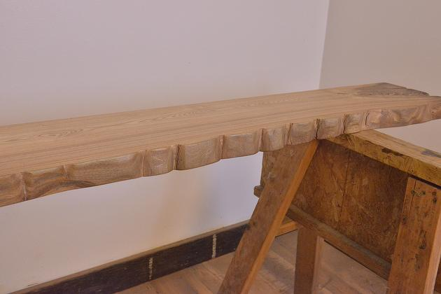 Barcode 145704 Antique Hardwood Resawn Mantel Finished