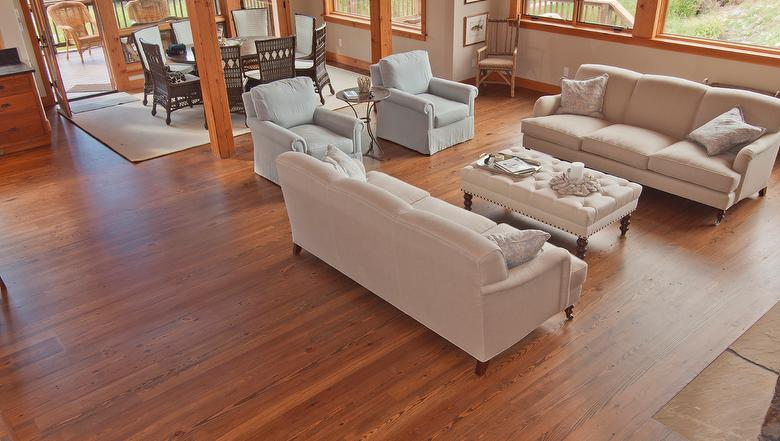 Clic Heart Pine Smooth T G Flooring