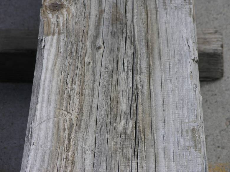 CA 12x12 Bridge Timbers / close-up of weathered face
