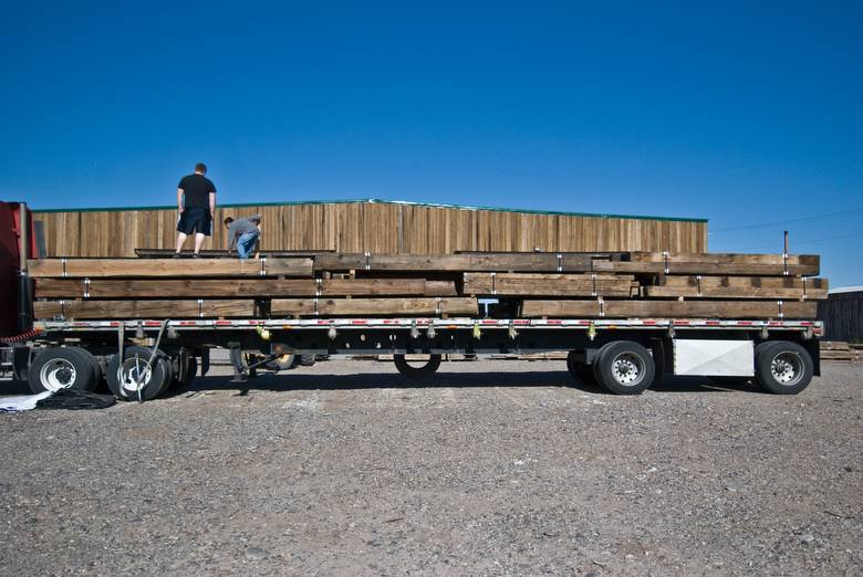 Loading Truck/Pressure Washed Weathered Timbers / Pressure Washed/Brown Weathered Timbers