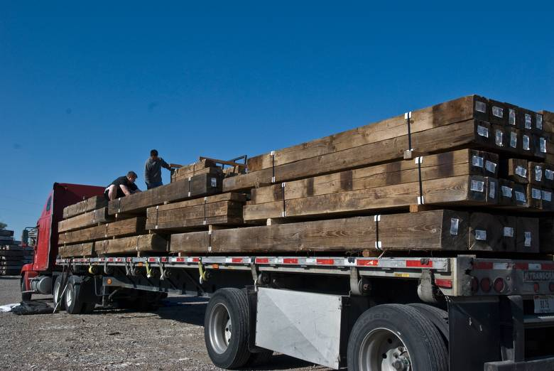 Truck Load of Pressure Washed Timbers / Brown Weathered Timbers (Washed)