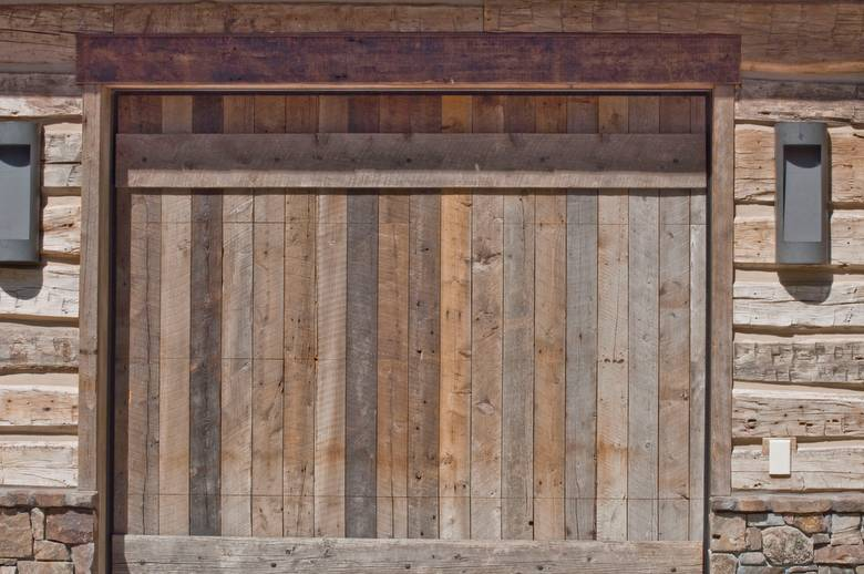 Barnwood Garage Door