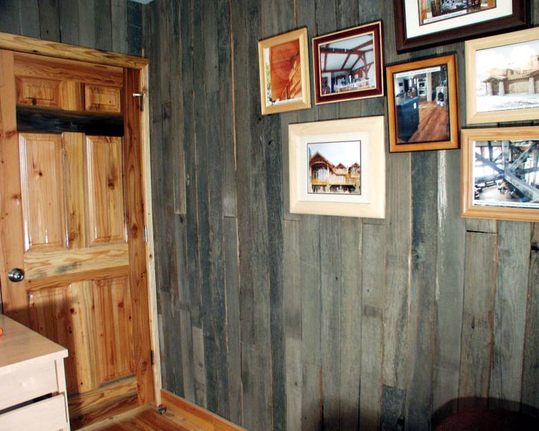 Captivating Photo #145   Blackfoot Office / Gray Barnwood Interior Siding And TWII Door