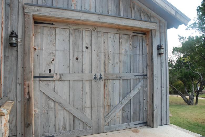 15019 Coverboard Barnwood Garage Door, Reclaimed Barn Wood Garage Doors