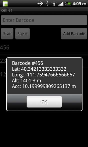 Barcode View option