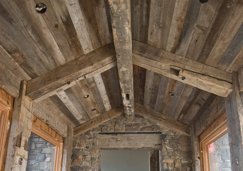 Photo 17052 Gray Barnwood Ceiling