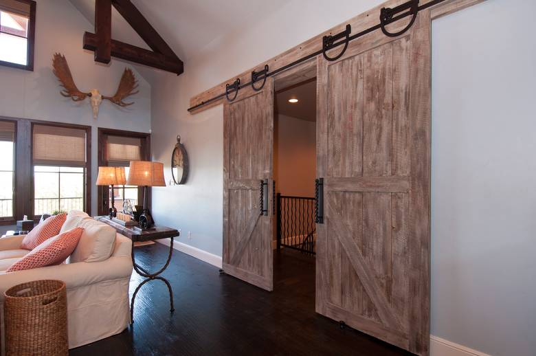 Photo #25028   NatureAged Barnwood Gray Sliding Door (the Brown Accents Are  The Backside Of NatureAged Gray)