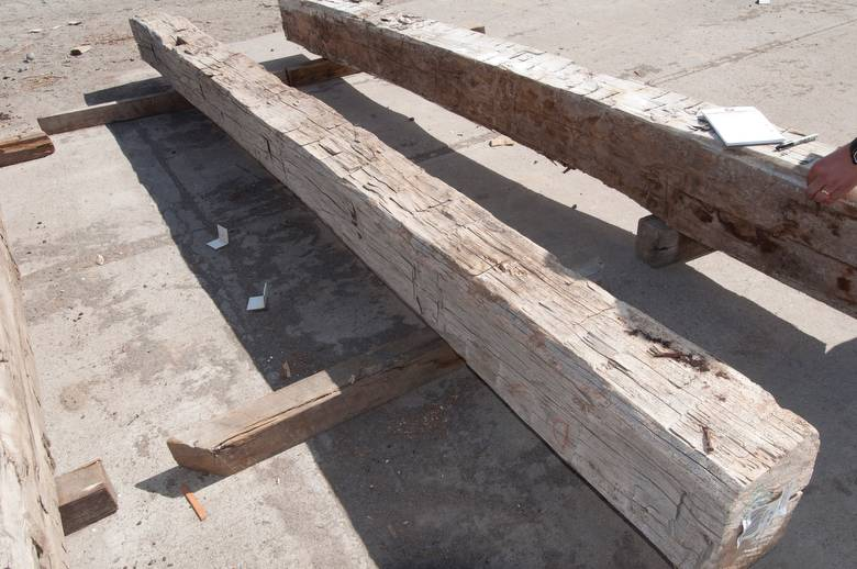 bc# 102576 - 9x11 x 12.67' Hand-Hewn Mantel, As-Is