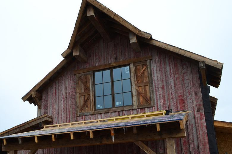Red Painted NatureAged Barnwood