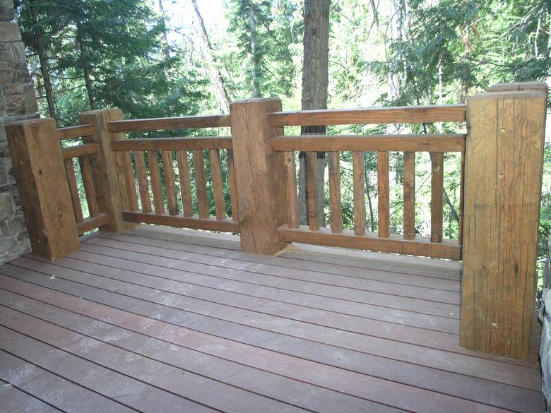 Photo 722 Douglas Fir S4s Timber Deck Railing All