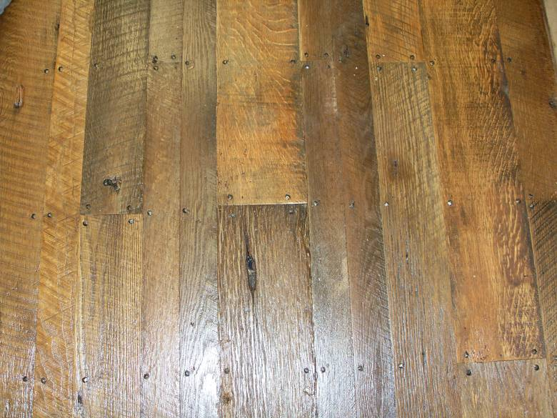 Photo 7360 As Is Oak Shiplap Face Nailed This Floor